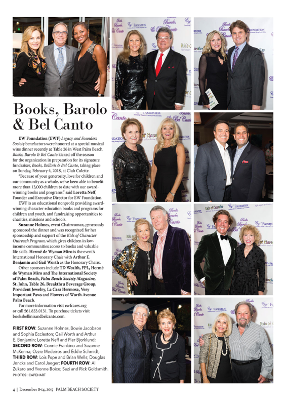 Palm Beach Society Books Bellinis & Bel Canto Dec 8 2017